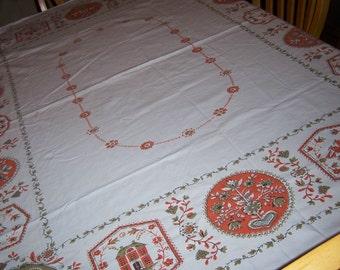 Pennsylvania Dutch vintage Tablecloth