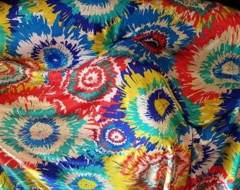"100% Rayon yarn dyed jersey knit ""hippie"" print by the yard"