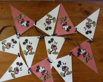 Vintage Micky Mouse Flag Bunting