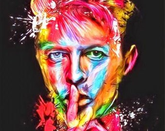 DAVID BOWIE Pink Canvas Wall Art