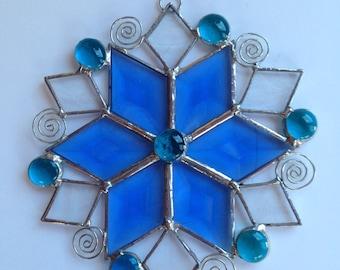 Blue suncatcher