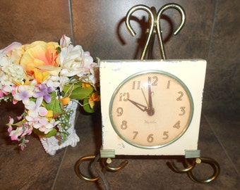 Vintage Westclox Chippy Shabby Chic Alarm Clock