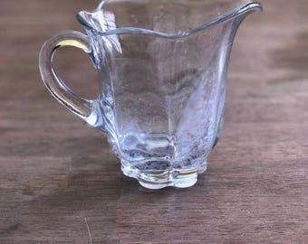 Glass Creamer Dish // Pitcher