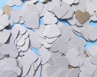 Confetti heart kraft paper guestbooks upcycling paper confetti wedding confetti confetti hearts wedding confetti kraft paper