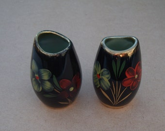 Beautiful Ceramic Vases - Floral Design - Vintage