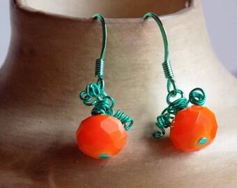 Pumpkin Earrings,  Fall Pumpkin Earrings,Halloween Earrings, Gifts For Her