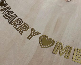 Personalised Gold Letter Garland/Bunting - 7cm Letters With Holes