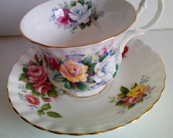Vintage Royal Albert Bone China Cup And Saucer Summertime Series