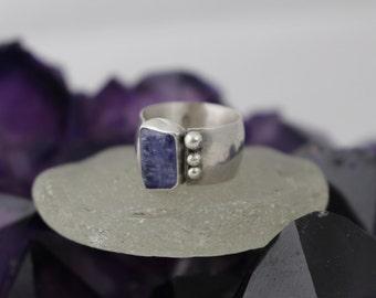 Tanzanite Guardian Ring