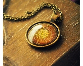 Necklace | Compass | 25x25 mm