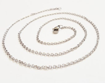Add a CHAIN - Stainless Steel Necklace Chain Charm Necklace Sterling Silver Box Chain