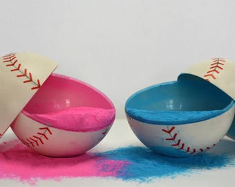Gender Reveal - Combo Pack - 2 Baseballs, 2 Tennis Balls and 3 Golf Balls (Color combination of choice) (Labeled individually)