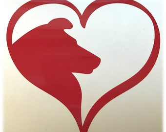 SHELTIE HEART Decal - use on a Yeti, RTIC, or Ozark cup, Car window, Walls, Home Windows, Kennels - Valentine Sheltie