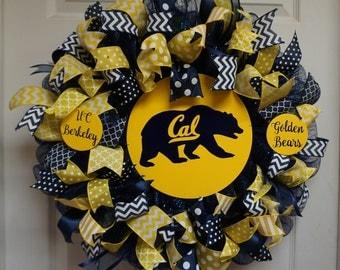 Cal wreath, UC Berkeley Wreath, University of California Wreath, Golden Bears Wreath
