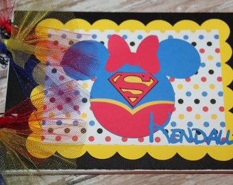 Personalized Disney Autograph Book inspired by SuperGirl (C)