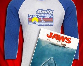 Amity Island Jaws Inspired 1980s tee