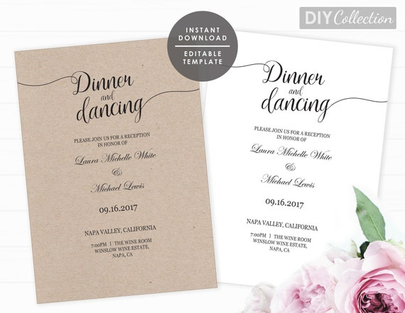 Wedding Dance Only Invitation Wording: Reception Only Invitation Template Printable Reception Only