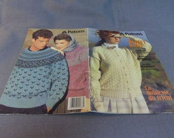 Knitting Patterns, Patons Gentry Knits, Sweaters, Cardigans and Pullovers, 1989