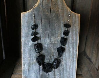 Black tourmaline necklace jewelery