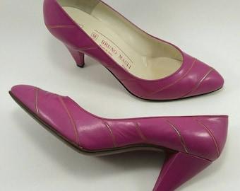 Vintage pink pump heels Bruno magli