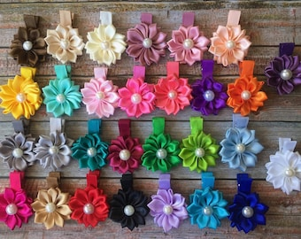 PICK 2-20 Baby Hair Clips/Hair Clip Set/Toddler Hair Clip/Baby Girl Hair Clip/Hair Clip/Girls Hair Clip/Infant Hair Clip/Flower Hair Clips