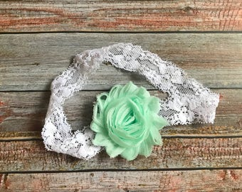Mint Baby Headband/Mint Green Baby Headband/Baby Headband/Infant Headband/Baby Girl Headband/Newborn Headband/Mint Green Headband/Baby Bow