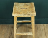 Vintage lab stool  wooden 1950s stool  kitchen bar stool  vintage furniture