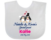 Personalised Custom Favour Souvenir Gift Wedding Day Baby Bib Special Guest