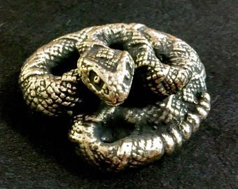 Solid Brass Diamondback Rattlesnake by CustomMadeCastings