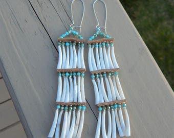 Lakota made Dentalium Earrings