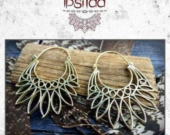 Nomadic spirit Bohemian chic ethnic tribal brass earrings