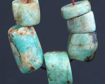 6 Ancient amazonite beads. Morocco