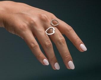YIN - YEN, ring, silver ring,