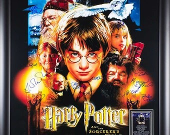 Harry Potter And The Sorcerer's Stone - Signed Movie Poster  Framed + COA