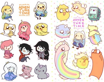 adventure timesticker sheets