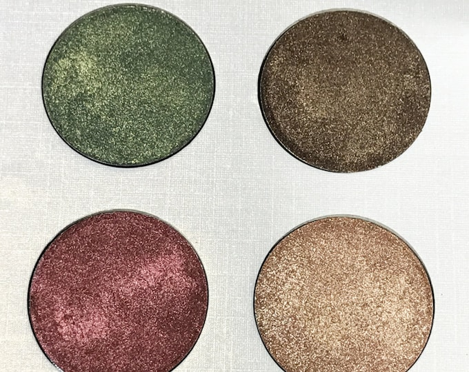 Vegan Eyeshadow-Winter Eyeshadow-Pressed Eye Shadow-Eyeshadow-Quad #7 Eyeshadow Palette-Organic Eyeshadow Palette, Vegan Eyeshadow Palette