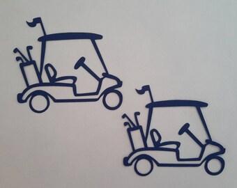 Golf cart die cuts - Golf die cuts - Golf decor - Golf themed party - Scrapbook embellishments - Golf tags