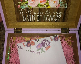 Will you be my Bridesmaid // Maid of Honor Box