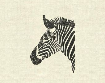 Machine embroidery design Zebra