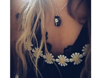Crystal Necklace Black Tourmaline Pendant