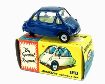 Vintage Diecast Toy Car | 1960's Corgi Heinkel Car