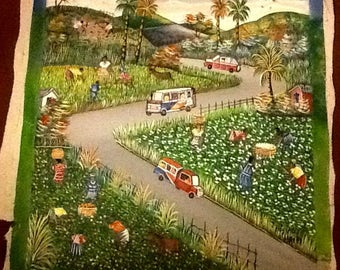 "Haitian Art ""Coffee and Cotton"""