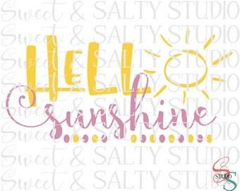 hello sunshine sun digital file