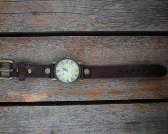 Handmade 18 mm Leather Watch Strap