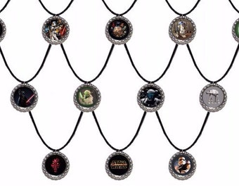 12x Star Wars Party Favor Necklaces