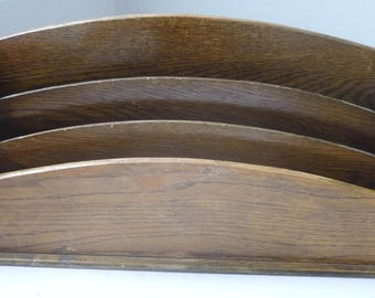 Wooden old Rack Stand Newspaper or Table Letter holder by Pilots 1930