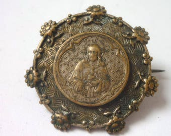 Victorian Brooch Jesus Christ Sacred Heart