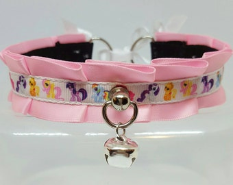 Pink my little pony 12 inches collar