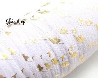 """Mermaid Print FOE - Fold Over Elastic - 5/8"""" elastic - Printed Elastic - Elastic Trim- Elastic Ribbon-FOE-headbands-Lavender mermaid Foe"""