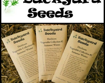 Heirloom Vegetable Seed Collection Autumn/ Winter (15 Varieties)